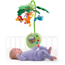 Baby Crib Lights by Fisher Price Rainforest Peek A Boo Leaves Musical Mobile Walmart Com