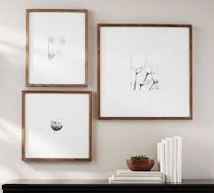 wood frames wood gallery oversized mat frames pottery barn