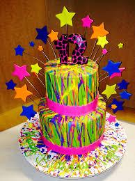 25 neon birthday cakes ideas diy blacklight
