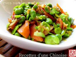 cuisiner feves recettes d une chinoise fèves fraîches sautées aux carottes 胡萝卜