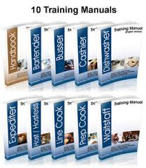 kitchen manual template restaurant package 50 templates restaurant management