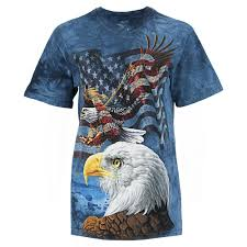 Bald Eagle And American Flag Soaring Eagle U0026 American Flag T Shirt The Veterans Site