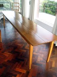 narrow formal mahogany dining table with gallery including long