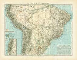 south america map buy map of the middle south america in 1905 buy vintage map