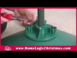 artificial christmas tree stand how to setup the home logic rotating christmas tree stand