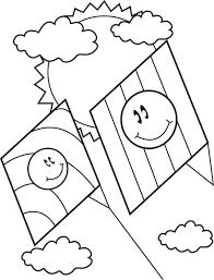 free printable spring kites coloring kids