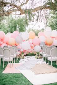 wedding backdrop balloons a chic garden wedding filled with balloons