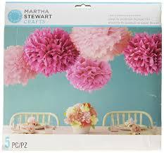 amazon com martha stewart crafts pom poms pink 2 sizes arts