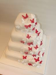 Wedding Decorations Butterflies White Butterfly Wedding Cakes Tier Wedding Cakes With Red And
