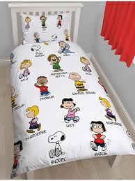 Snoopy Bed Set Peanuts Snoopy Single Duvet Cover And Pillowcase Set Bedroom