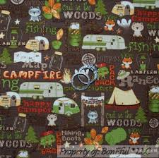 themed material boneful fabric fq cotton quilt boy girl scout c s tent