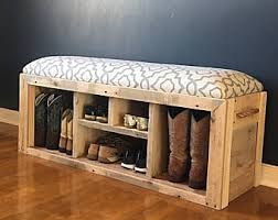 Entry Bench With Shoe Storage Storage Bench Etsy