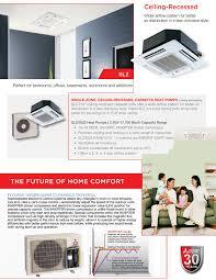 mitsubishi ductless ceiling mount mini split 9 000 btu mitsubishi 15 seer ceiling cassette heat pump