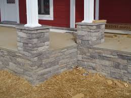 exterior design stone veneer panels for poles for red and white