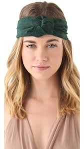 knot headband lyst eugenia suede turban knot headband in green