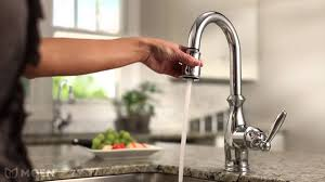moen motionsense faucet low flow touch free 7185srs kitchen