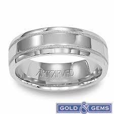 mens wedding rings white gold 11 wv5612w 14k white gold perfection mens wedding bands from