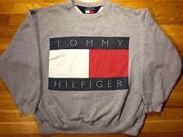 vintage hilfiger sweaters vintage hilfiger flag spellout logo sweatshirt sweater m usa