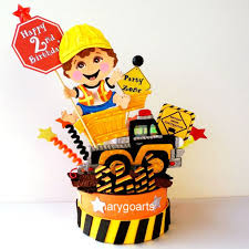 construction cake toppers boys cake toppers kharygoarts artfire shop