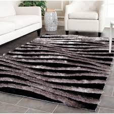 Modern Black Rug Black And Gray Area Rugs To Enhance The Of Your Home Floor