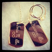customized dog tag necklace handmade custom dog tag charm necklace with engagement wedding