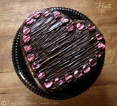 heart chocolate chocolate ganache heart cake