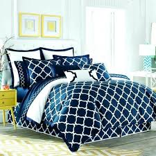 Geometric Coverlet Navy Blue Bedding Twin Full Queen Navy White Geometric Reversible