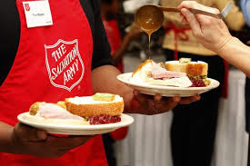 salvation army provides thousands of thanksgiving meals and food