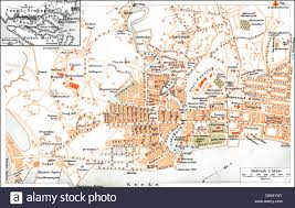 Singapore Map Asia by Historical City Map Singapore Asia 19th Century Stock Photo