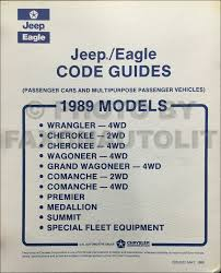 1989 jeep wrangler yj owner u0027s manual original