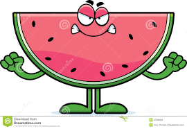 watermelon emoji angry watermelon isolated royalty free stock images image 24319899
