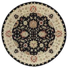 Black Circle Rug Hand Knotted Oriental Black 10 U0027 Round Soumak Rug H614