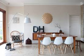 modern monogram design dining room midcentury with white eames