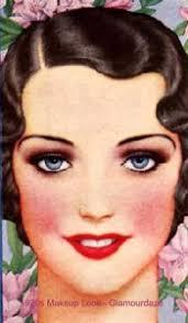 1920s makeup look face