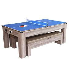 pool and air hockey table driftwood 7 ft air hockey table combo set with benches pool warehouse