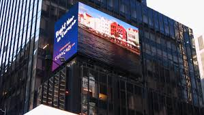 curaçao partners with abc network on times square