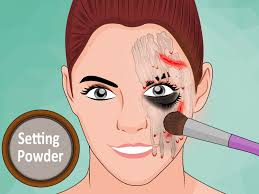 how to do melted face costume makeup with pictures wikihow