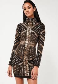 embellished dress peace black embellished mini dress missguided ireland