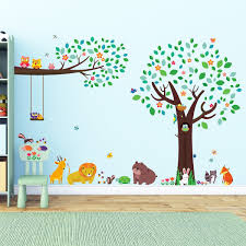 stickers cuisine enfant decowall dm 1312p1410 grand arbre et et grosse