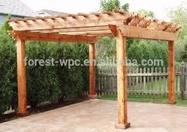 Wood Pergola Designs by Wood Pergola Design Plastic Wood Pergola Garden Wpc Column Pergola
