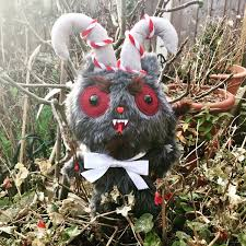 horror home decor krampus plush doll christmas ornament decoration custom toys