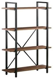 Steel Frame Bookcase Bookcase Industrial Bookcase Wood Wheels Industrial Furniture
