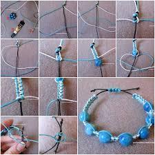 make bracelet from beads images How to make large beads bracelet step by step diy tutorial jpg