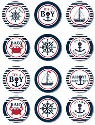 nautical cake toppers cupcaketopper nautical babyshower itsaboy free printable just