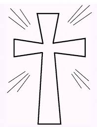 cross coloring pages stained glass cross printable coloring sheet