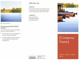 word brochure template download