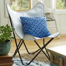 Butterfly Patio Chair Horizon Brown Leather Butterfly Chair Free Shipping Today