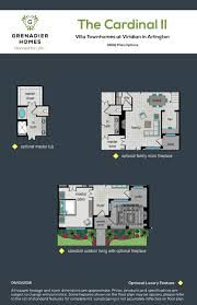 Arlington House Floor Plan by Grenadier Homes Viridian