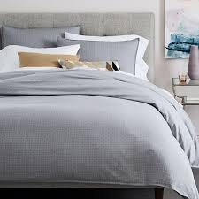 gray textured duvet cover west elm