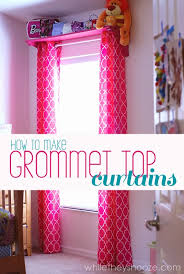 How To Sew Curtains With Grommets While They Snooze How To Make Grommet Top Curtains